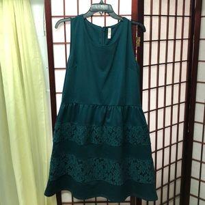 Green Skater Dress